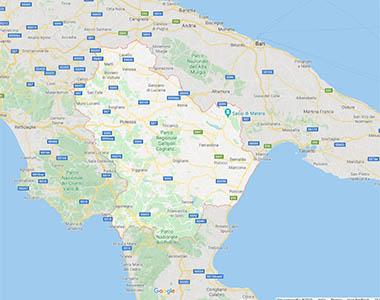 Cartina Basilicata.